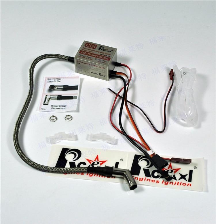 Rcexl Single Cylinder CDI Ignition For ME8 1/4-32 Spark Plug 120 Degree With Universal Sensor Bracket 6V/12V 1pc rcexl electronic ngk me 8 1 4 32 90 degree twin ignition universal sensor basket