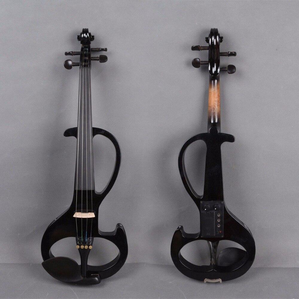 Новый 3/4 Электрический скрипки для ребенка Silent практика эбеновые крепления случае лук # YZ12