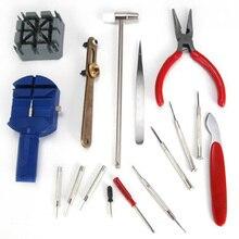 цена на 16 pcs Professional Watch Repair Tool Kit Case Opener Remover Screwdriver Spring Bar Watchband Link Pin Wristwatch Repair Tool