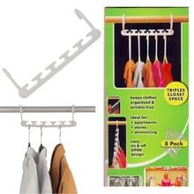 8 шт. компактный волшебный для брюк вешалка для одежды пальто брюки одежда шкаф крючки для органайзера вешалка Прямая поставка