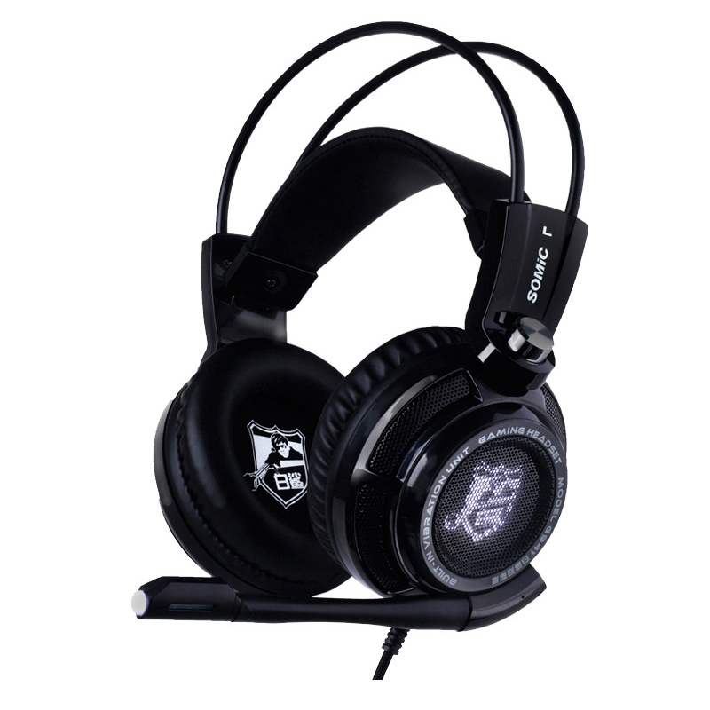 ФОТО Original Somic G941 USB E-Sports Game Headset Bass Stereo Surround Sound Music PC Gaming Headphones With Microphone For Laptop