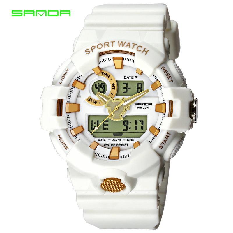 SANDA Luxury Brand Sports Watches Men Analog Quartz Digital Watch Waterproof Casual Watch Relogio Masculino Erkek Kol Saati