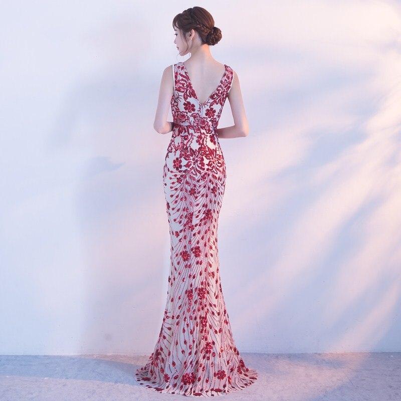 2018 Mariage Longue Trompette Sirène Soirée De Picture Robe Mode Nouveau Femmes Fiesta Brillant Partie Sequin Bling Étincelle g46nxPO