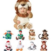2019 venda quente carnaval natal natal navidad halloween traje infantil bebê meninas leão macacão cosplay recém nascidos crianças roupas