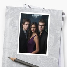 25PCS The Vampire Diaries Movie Stickers For Laptop Luggage Bicycle Phone Guitar Waterproof Pvc Toy Stickers Car Styling Decals