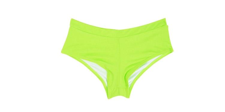 Летний женский спортивный купальный костюм, брюки, одежда для плавания, купальник с заниженной талией, сексуальные плавки для девочек с принтом, B605