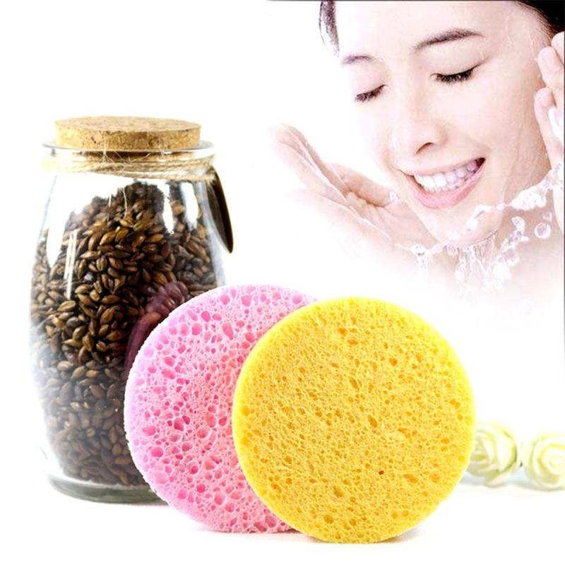 Natural cellulose firber cleansing sponge facial puff face washing exfoliator cleaning puff makeup tools y2