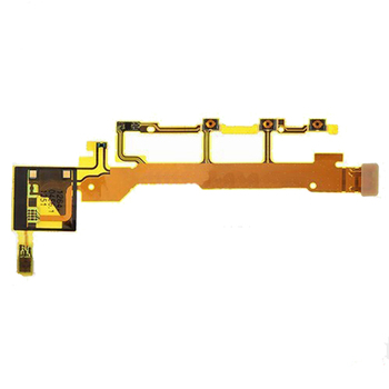 Original For Sony Xperia Z L36H L36 LT36 C6602 C6603 Power Button Flex Cable With Microphone Ribbon image