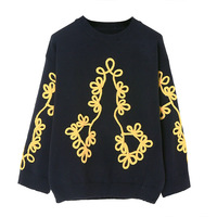 2018 Runway Womens Sweaters Fashion Autumn/winter Turtleneck Korean Sweater Jumpers Casual Beading Embroidery Women Sweaters