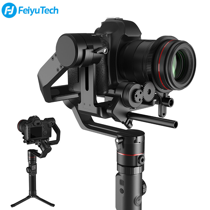 Feiyu AK4000 Handheld Camera Stabilizer 3-Axis Zoom Gimbal 4kg Load for Sony A6000 Canon 5D 7D Panasonic GH5 Nikon D7000 D5300