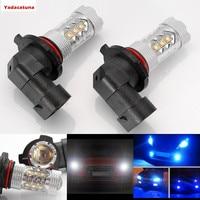 2X9005 HB3 9006 HB4 H10 H11 H8 80 Watt High Power LED Dunkelblau/Weiß Birne Für Auto Nebelscheinwerfer Driving Tagfahrlicht DRL Licht Kopf lampe