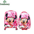 Minnie Mouse Kids Trolley School Bags for Girls Boys Spiderman Snow White Children's School Backpack Wheels Kids Travel Suitcase