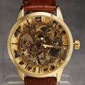 Vestido de Marca SEWOR Esqueleto Homens Mecânicos Do Relógio dos homens de Luxo Reloj Hombre Casual Esporte Relogio masculino Relógio Mostrador Transparente