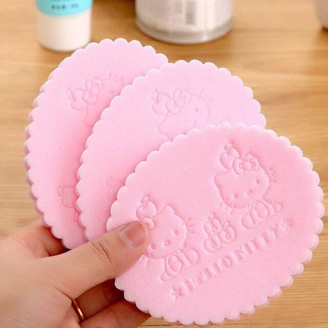1 x di colore rosa Del Fumetto del gatto di KT Pulizia del viso spugna di pulizi