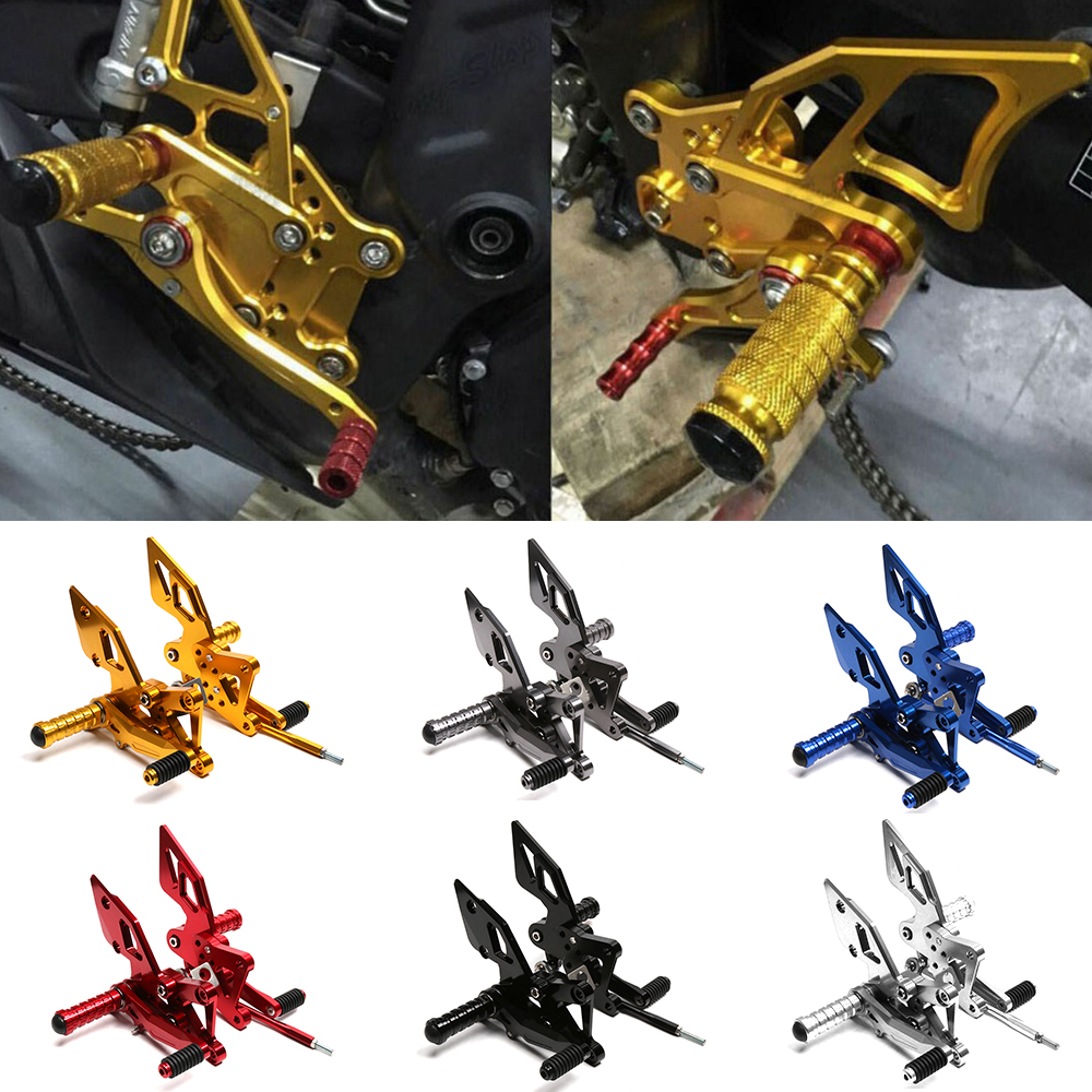 Motorcycle CNC Aluminium Adjustable Rider Rear Sets Rearset Footrest Foot Rest Pegs For Yamaha YZF R3 R25 2014-2016 morais r the hundred foot journey