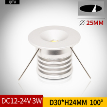 Spot Miniature small spotlight LED ceiling embedded 12-24V shop window display 3W hidden mini downlight