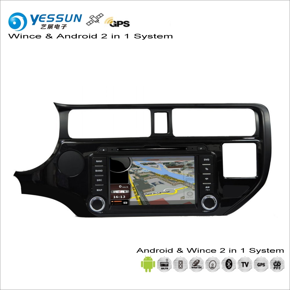 YESSUN For KIA RIO / Pride / K2 2011~2014 Car Android Multimedia Radio CD DVD Player GPS Navi Map Navigation Audio Video Stereo цена 2017