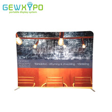 10ft*7.5ft Straight Tension Fabric Banner Tube Display,Portable Exhibition Aluminum Stand With Stretchable Graphic Printing