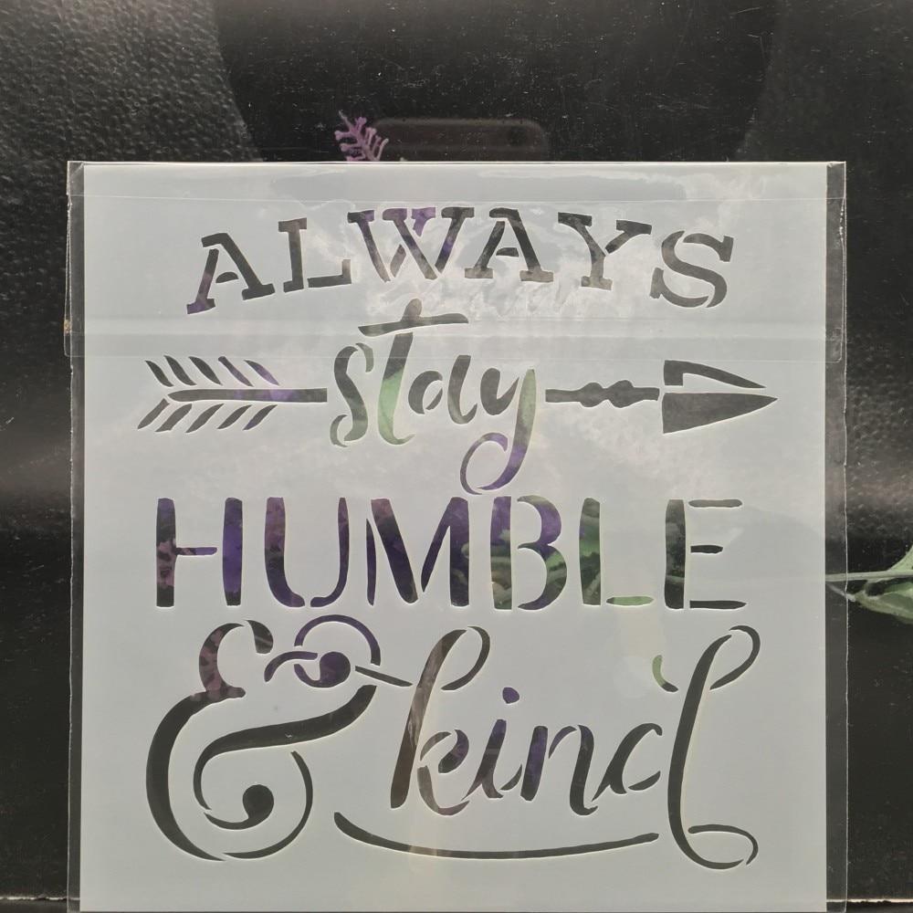 15cm Always Words DIY Layering Stencils Wall Painting Scrapbook Coloring Embossing Album Decorative Card Template