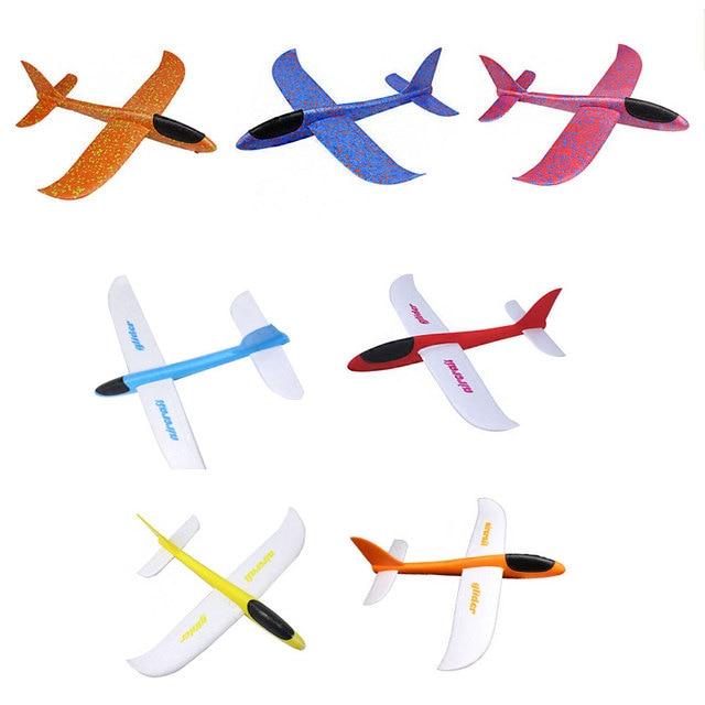 hand throw launch glider aircraft foam model airplane kids children fun toys