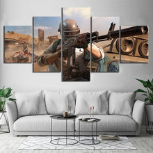 Canvas Picture Modular Frame 5 Pieces Pubg Stimulate The Battlefield Video Game Painting Modular HD Prints Poster Decor Wall Art(China)