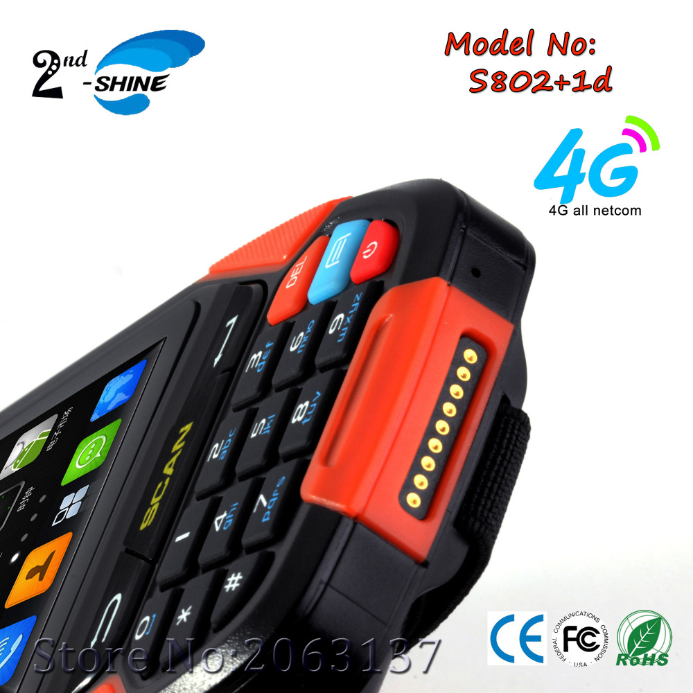 2017 New Programmable Handheld Computer Pda Contains 1D Scanner,Gps,Bt,Wifi, 4G