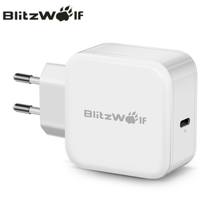 Image 1 - BlitzWolf USB Type C PD 30W Fast Charging Mobile Phone Wall Travel Charger Adapter For iPhone 11 Pro X Max Macbook Smartphone