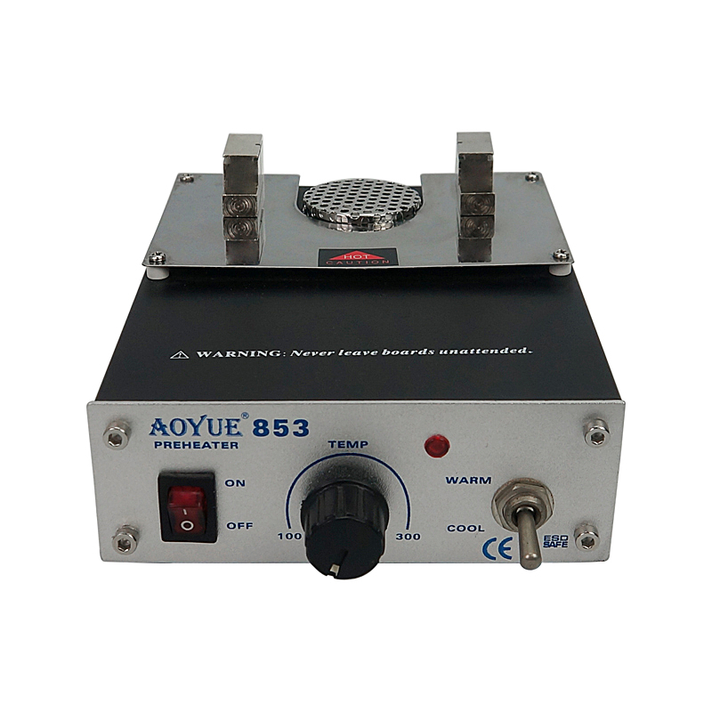 Aoyue 853 soldering Preheater Station with Variable Temperature Setting and ESD TweezersAoyue 853 soldering Preheater Station with Variable Temperature Setting and ESD Tweezers