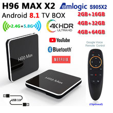 H96 MAX X2 Android 8.1 box 4GB ram 64GB rom Amlogic S905X2 TV box 2.4/5.8G wifi 4k 1080P BT4.0 support iptv google play h96MAX smart tv box android 8 1 h96 max x2 amlogic s905x2 4k media player 4gb 64gb h96max ddr4 tv box quad core 2 4g