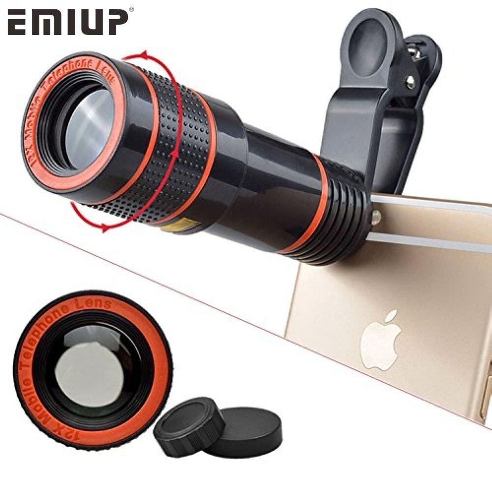 Universal Mobile Phone Lens Clip 8x 12x Optical Zoom Telescope Lens