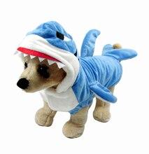 PetRadise Autumn&Winter Pet Dog Clothes Funny Shark Halloween Costume Puppy Coat Jacket Blue Grey