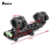 Tactical Scope Mount 25.4mm 30mm Dual Ring Cantilever Heavy Duty Riflescope With Bubble Level 20mm Rail Base
