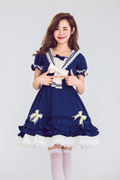 Cute Sweet Lolita Cosplay Outfit College Naval Style Anime Princess Dress Doll Clothing For Kawaii Girls Japanese Free Shipping