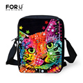 Multi colored Animal Women Messenger Bag Cute Cat Dog Head Crossbody Bags for Lady Zoo Small Travel Shoulder Bag mochila bolsas