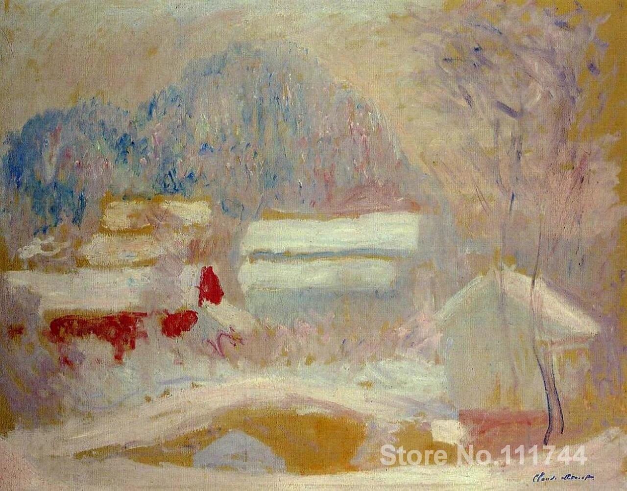 Peinture A L Huile Paysage Norvegien Sandviken Claude Monet Jardin Peinture A L Huile Reproduction Peinte A La Main Haute Qualite Aliexpress