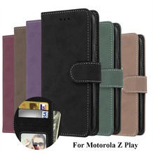 LUCKBUY Phone Fundas Case For Motorola Moto Z Play Droid XT1635 55 Inch Flip Cover Wallet PU Leather Bags Skin For Moto Z Play