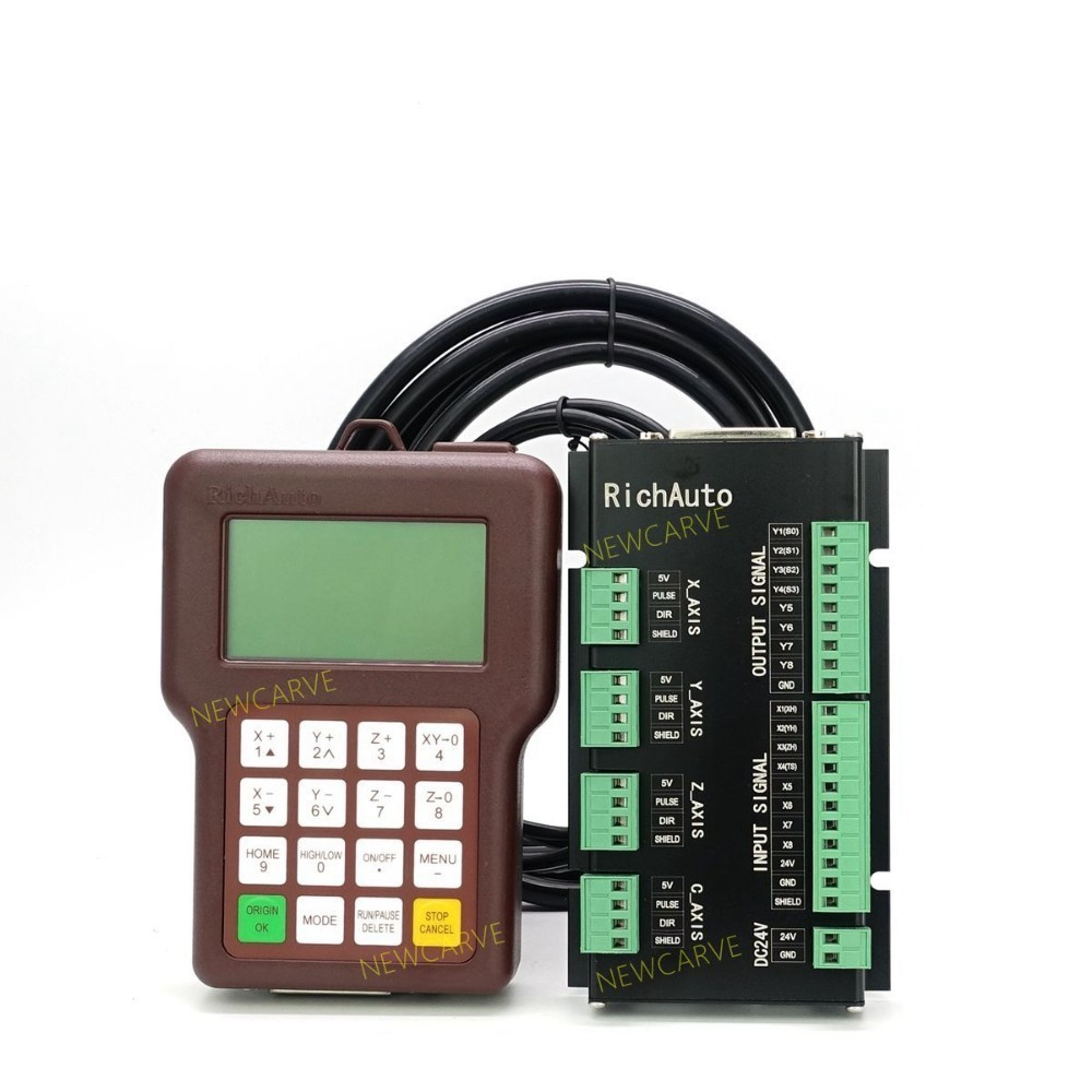 Richauto A15 Multi spindle 3 Axis CNC DSP Controller A15s A15e Offline USB Motion Control System Manual For Cnc Router NEWCARVE in CNC Controller from Tools