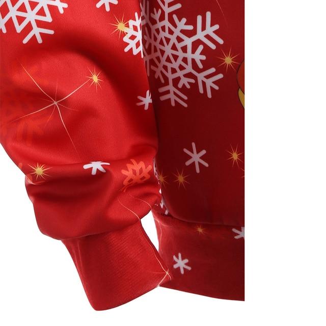 Christmas snowman 3d Print Hooded Plus Size Sweatshirt Kangaroo Pocket Hoodie Long Sleeve lagenlook voguees Trend New year Tops 2