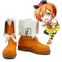 Anime LoveLive School Idol Project Sunny Day Song Hoshizora Rin Shoes Cosplay Christmas Party Boots Custom