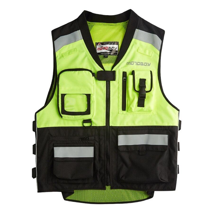 498d22fbeb O envio gratuito de 1 pcs NOVOS Homens Colete de Alta Visibilidade  Reflexiva Colete de Moto De Corrida De Motocross Da Motocicleta com  protetores em ...