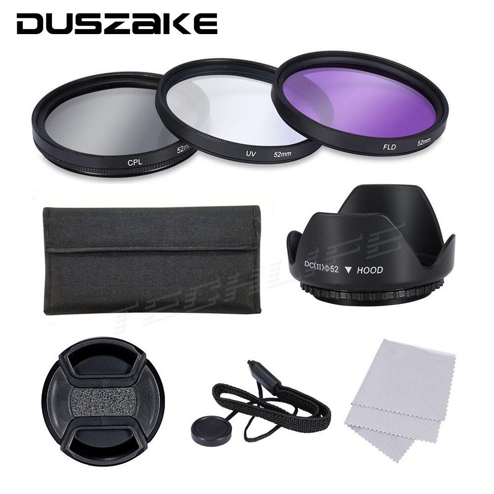 CPL + UV + FLD Lens Filter 52 55 58 62 72 77mm Kit per Canon EOS 600D 7D Nikon D5300 Sony Obiettivo Della Fotocamera DSLR con Attacco Filtri A7