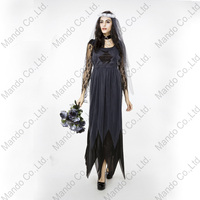 Women Zombie Ghost Vampire Bride Cosplay Dress Halloween Party Fancy Costume Girls Carnival Party Long Dresses