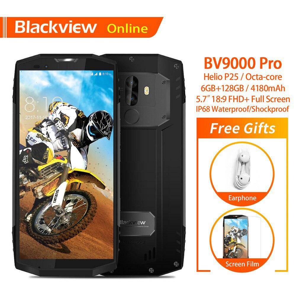 Blackview D'origine BV9000 Pro 5.7 IP68 Étanche téléphone mobile robuste 6 GO + 128 GO Dual SIM 4180 mAh D'empreintes Digitales En Plein Air smartphone