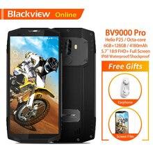 Blackview Оригинал BV9000 Pro 5,7 «IP68 Водонепроницаемый прочный мобильный телефон 6 ГБ + 128 GB Dual SIM 4180 mAh отпечатков пальцев Открытый Смартфон