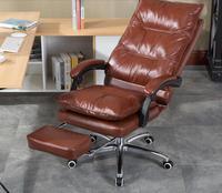 Эргономичный стул компьютера. Дома Офисное Кресло. Натуральная кожа обивку кресла. Поворотный chair.06