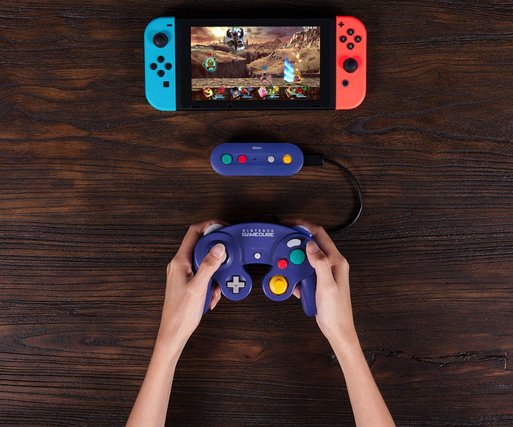 8bitDo GBros Wireless Adapter for NES SNES SF-C Classic Edition Wii Classic for Nintendo Switch Gamecube 13