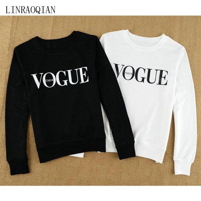 ad58673a8a9431 LINRAOQIAN VOGUE T Shirt Frauen Tops Herbst Winter Baumwolle T-Shirt  Oansatz Langarm T-