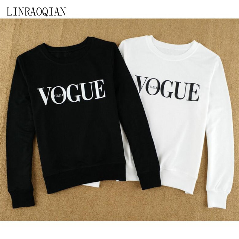 c52520e2d LINRAOQIAN VOGUE T Shirt Women Tops Autumn Winter Cotton T Shirt O ...