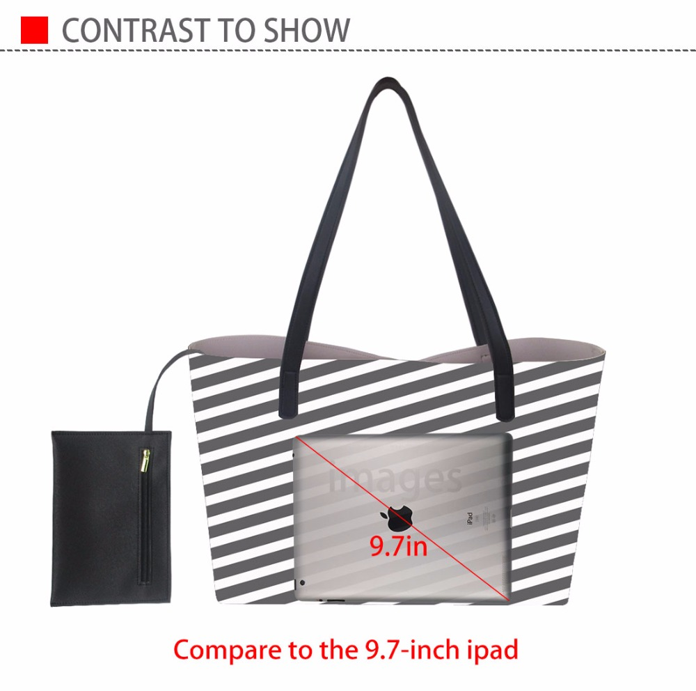 Coloranimal Women Handbags Eco-friendly Leather Tote Bag 3D World Map Print Women's Large Capacity PU Shopper Pouch Shoulder Bag