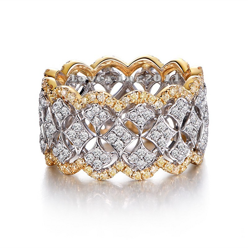 Չափս 5-11 Զարմանալի եզակի Desgin շքեղ զարդեր 214 հատ հատ AAA CZ 925 ստերլինգ արծաթե նմանեցված քարեր Հարսանեկան կանայք մատանի նվեր